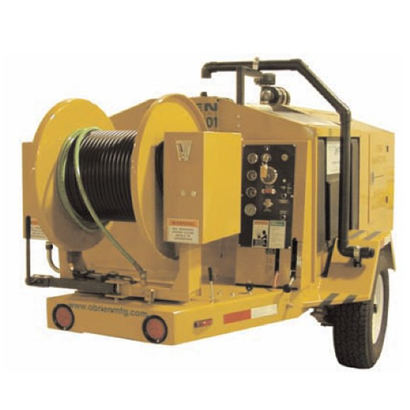 """Designed to tackle up to 24"""" mains, the O'Brien 3518-SC Hydro Jetter carries 375 gallons of water in rugged polyethylene tank with V-bottom sump clean out."""