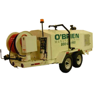 O'Brien 7065-SC Series Sewer Jetter Trailers. This unit is specially designed for the professional day-to-day culvert or sewer line cleaner.