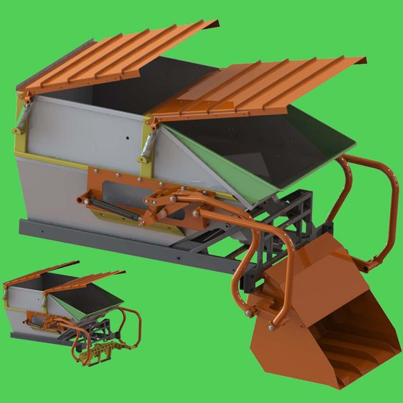 This singular satellite incorporates a shovel at the back for various uses. Dead animals, dry leaves or objects that a regular sweeper won't pick up ...