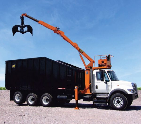 The Petersen DL-3 is a high capacity loader engineered for high volume collection operations after hurricanes, ice storms or tornadoes.